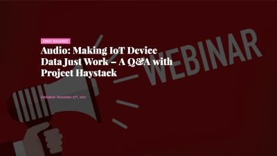 Project Haystack Webinar with Memoori Research